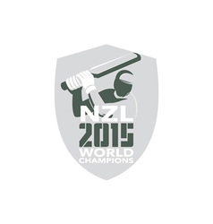 New zealand cricket 2015 world champions shield vector