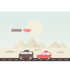 Pyramid travel vector