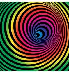 rainbow tunnel vector image