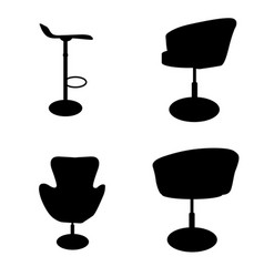 set of modern and antique furniture comfortable vector image