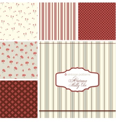 Shabby chic patterns set vector