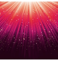 Star light sparkles background vector image