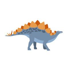 Stegosaurus dinosaur of jurassic period vector