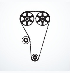 Timing belt icon vector