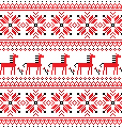 Ukrainian folk art embroidery horse pattern vector image