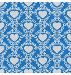 Vintage background with hearts vector image