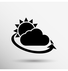 weather icon rain closeup sunlight shine isolated vector image vector image