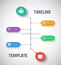 Web infographic timeline template layout with vector