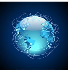 Worldwide connections vector image