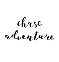 Chase adventure brush lettering vector