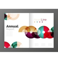 Transparent circle composition on business annual vector