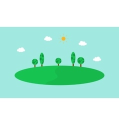 Simple hill landscape flat vector