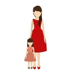 Mother and daughter design vector