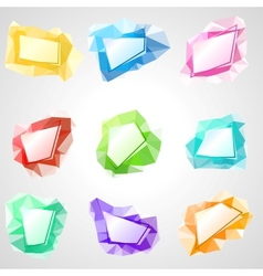 Multicolored speech bubbles with abstract vector image