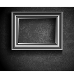 Grunge picture frame on beton wall vector