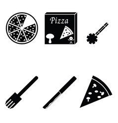 Pizza icons set vector