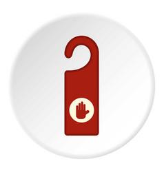 door hanger icon circle vector image