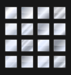 Silver background gradient texture set vector