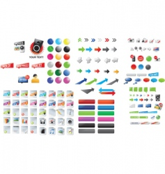 graphic collection vector image