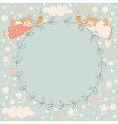 Angels wreath vector image