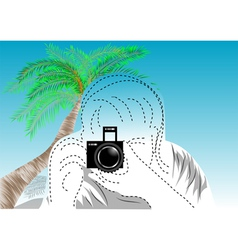 Travel photographer vector