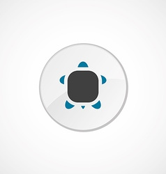 Turtle icon 2 colored vector
