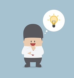 Businessman thinking and have a great idea vector image