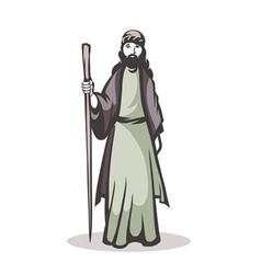 pilgrim vector image
