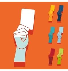 Flat design card vector image