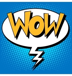 Wow factor the inscription comic style vector