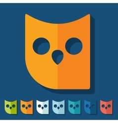 Flat design owl vector