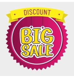 Shopping big sales offers vector