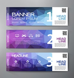 Banners set for business modern design vector