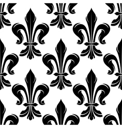 Black and white fleur-de-lis royal pattern vector