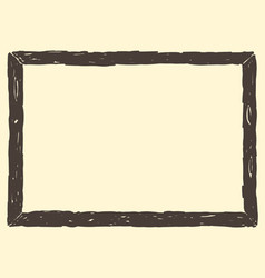 Brown frame sketch vector