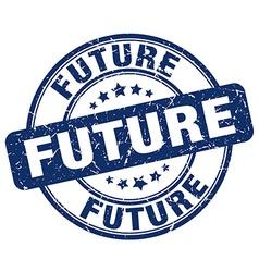 Future blue grunge round vintage rubber stamp vector