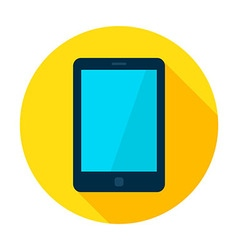 Tablet device flat circle icon vector
