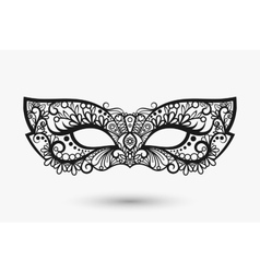 Beautiful lace mask vector image