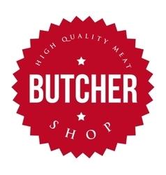 Butcher Shop vintage stamp vector image vector image