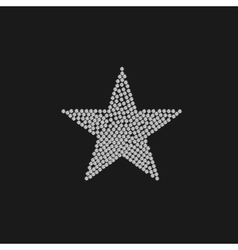 Diamonds luxury star vector image