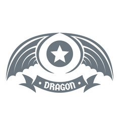 dragon wing logo simple gray style vector image vector image
