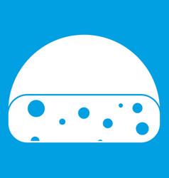 Dutch cheese icon white vector