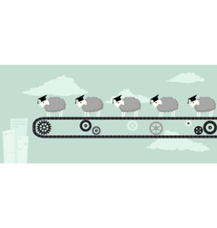 Educated sheep vector
