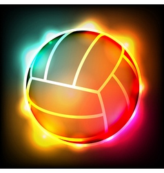 Glowing Volleyball vector image vector image