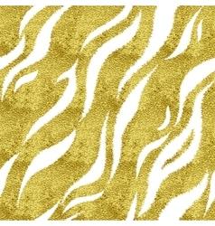 Gold tiger pattern vector
