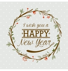 hello new year design vector image