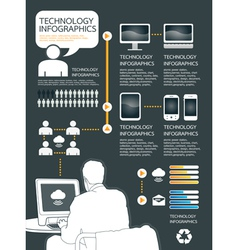infographic technology computer set vector image vector image