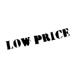 low price rubber stamp vector image