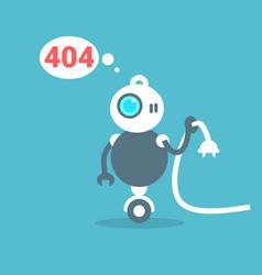 modern robot connection error message artificial vector image vector image