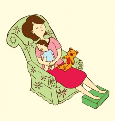 mother holding baby vector image vector image
